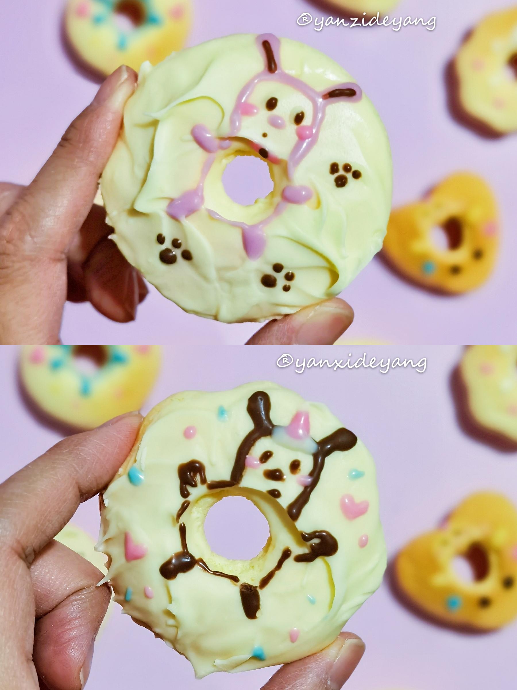 待凉用巧克力画上可爱的小动物