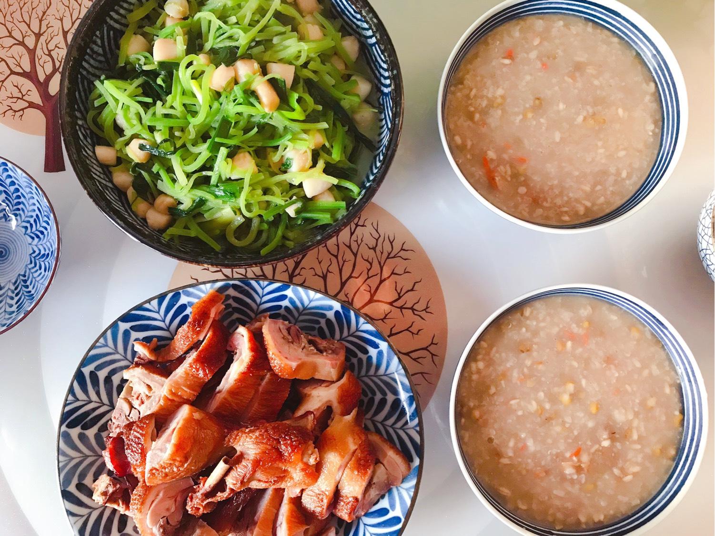 8️⃣ 今日晚餐:萝卜丝青蒜仙贝丁,烤