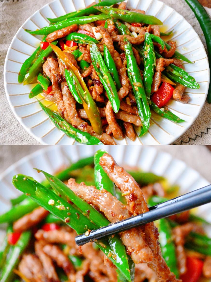 巨下饭的家常菜,杭椒牛柳,超级简单