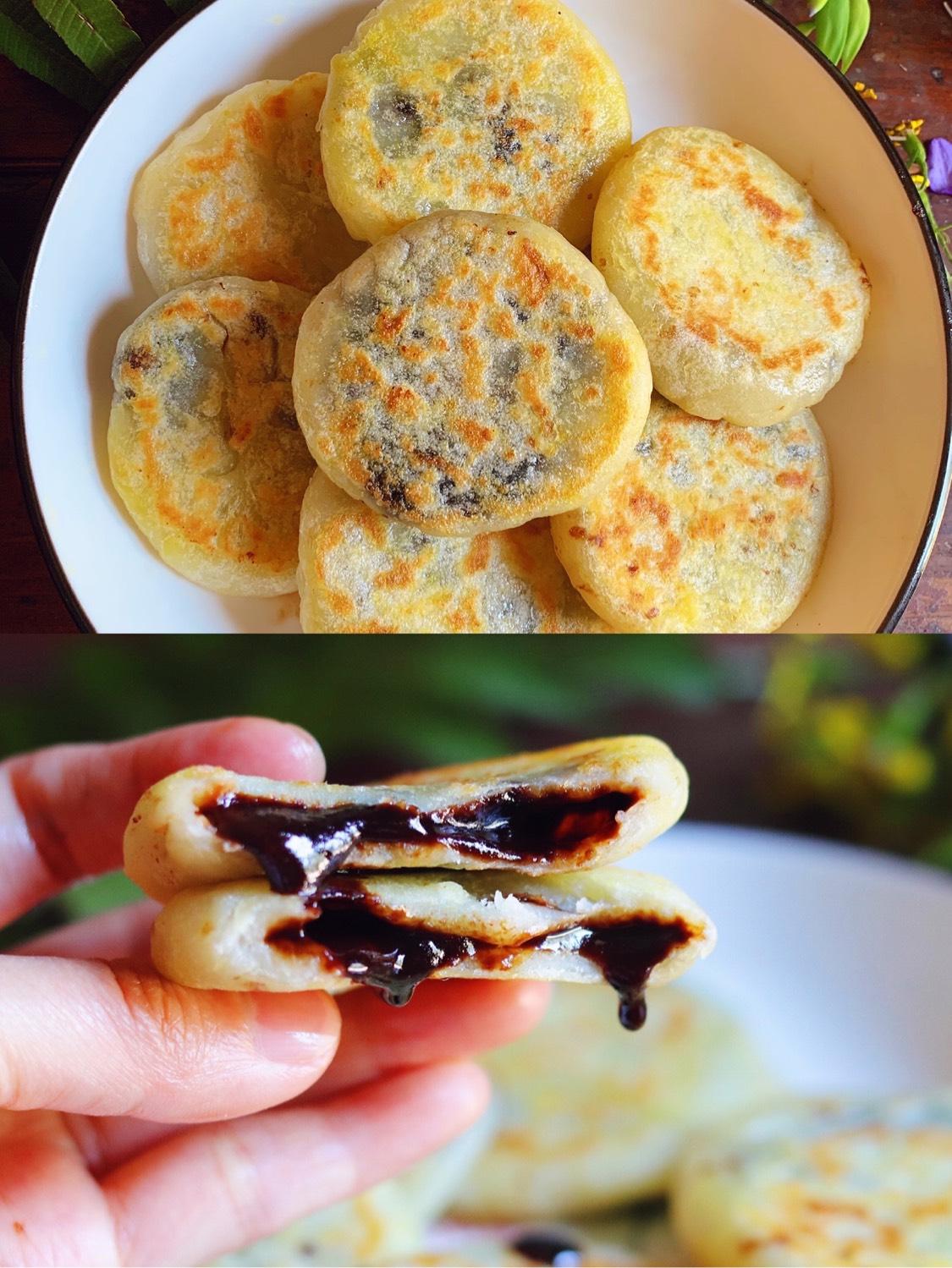 零失败红糖爆浆饼,香甜可口