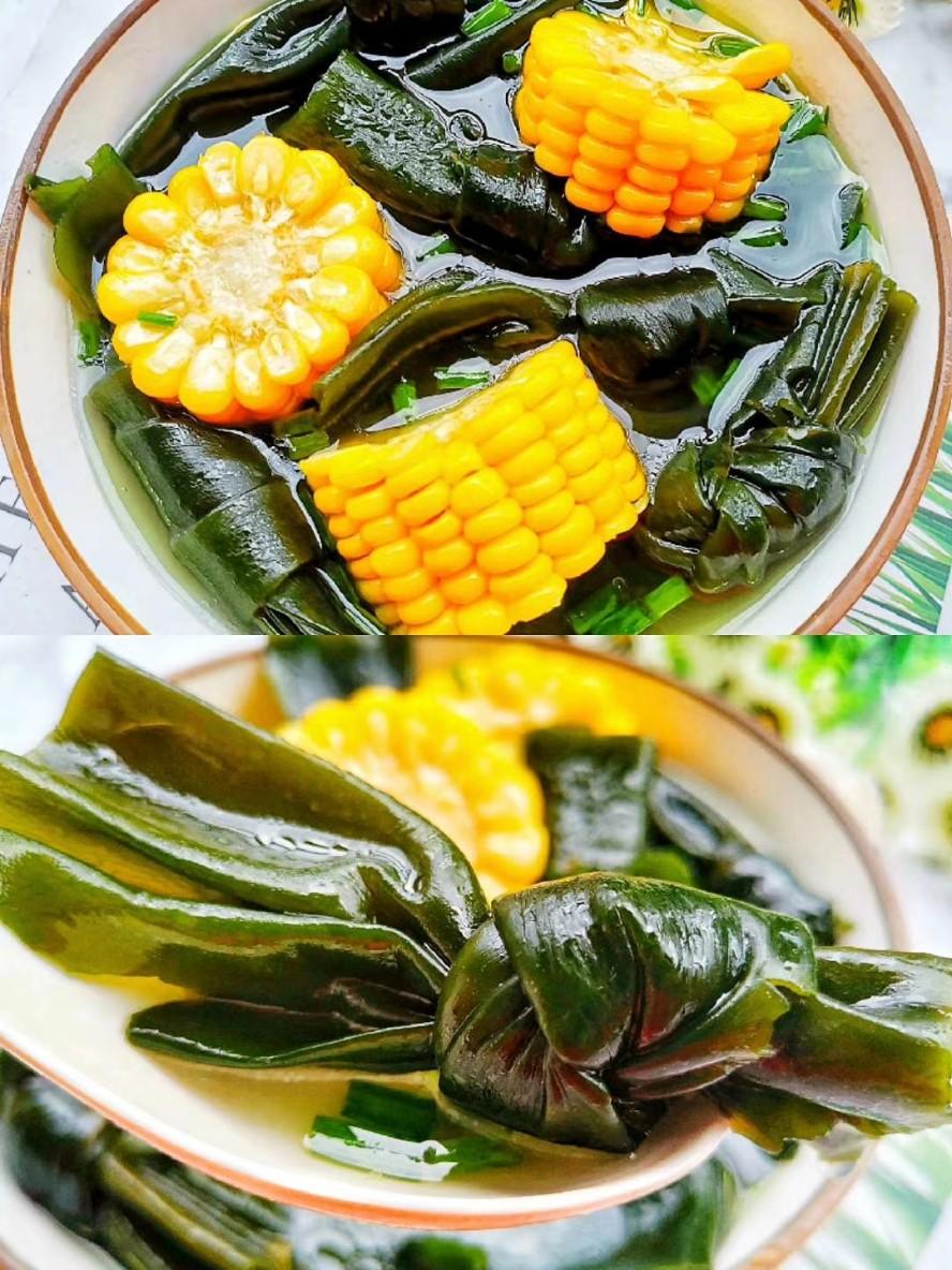 排油减脂 低卡饱腹的海带玉米汤❗️减肥喝它狂掉肉