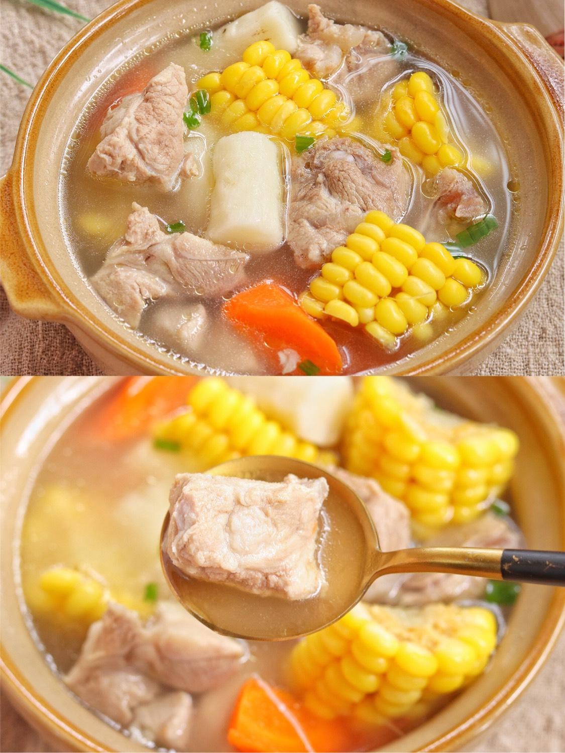 鲜美好喝❗️无敌好喝的山药玉米猪骨汤,老少皆宜养生养胃