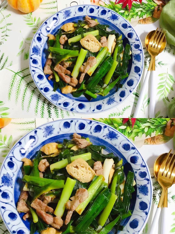 青蒜油豆腐炒肉 简单易做又美味的家常