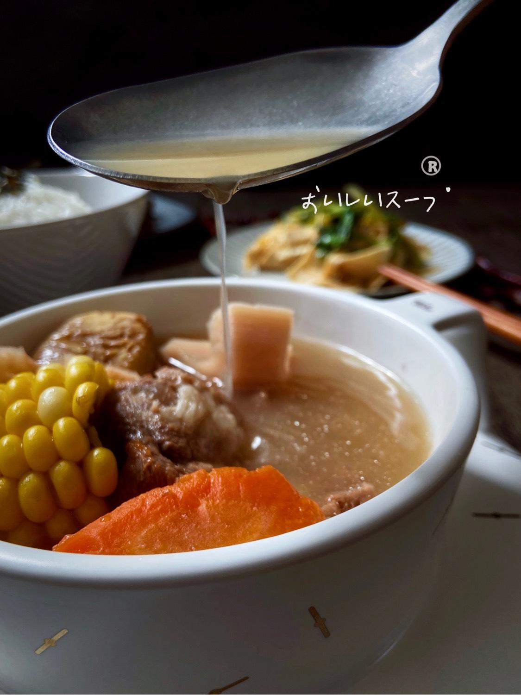 适合秋天喝『莲藕玉米猪骨汤』
