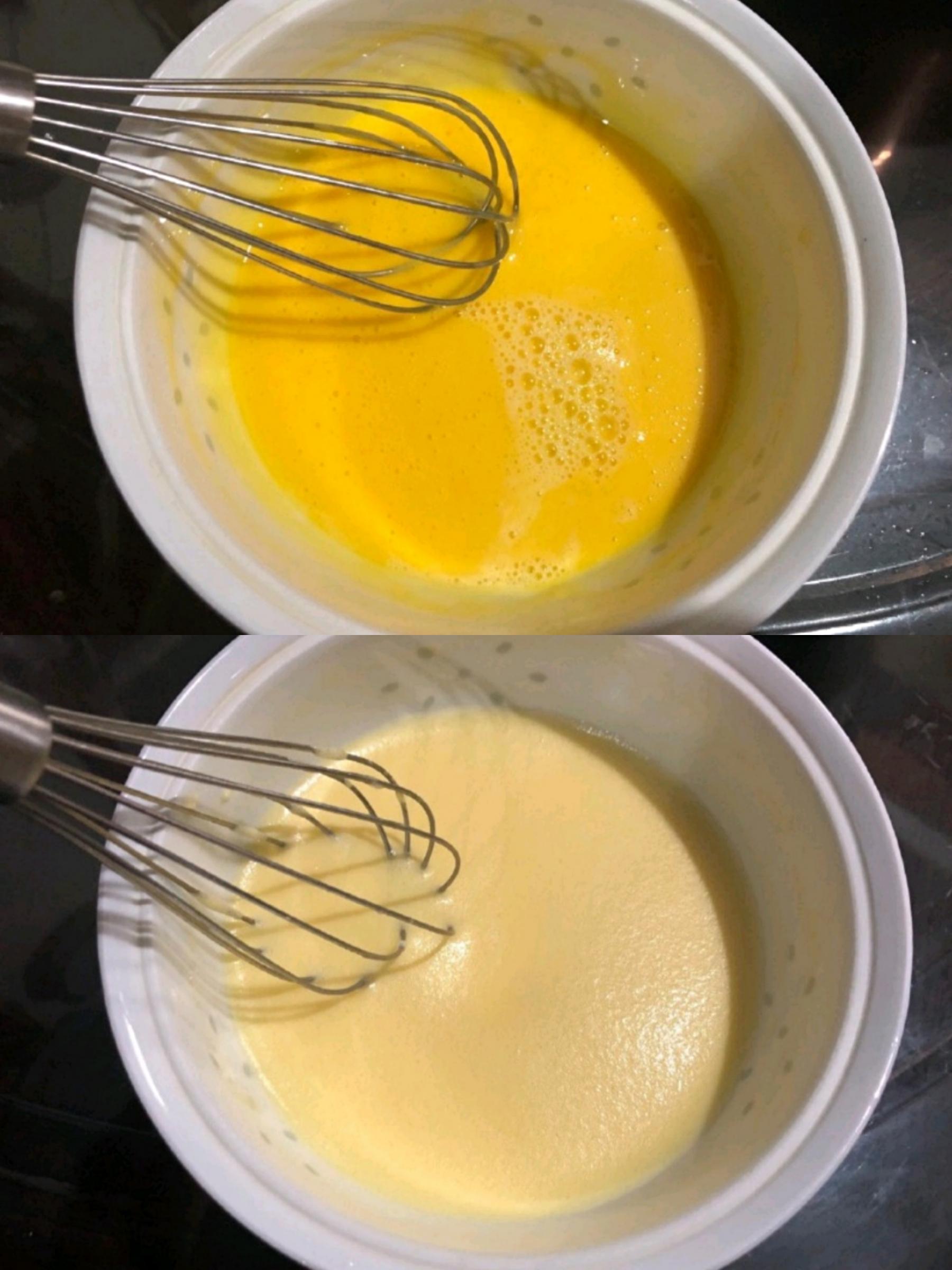 加入牛奶拌匀