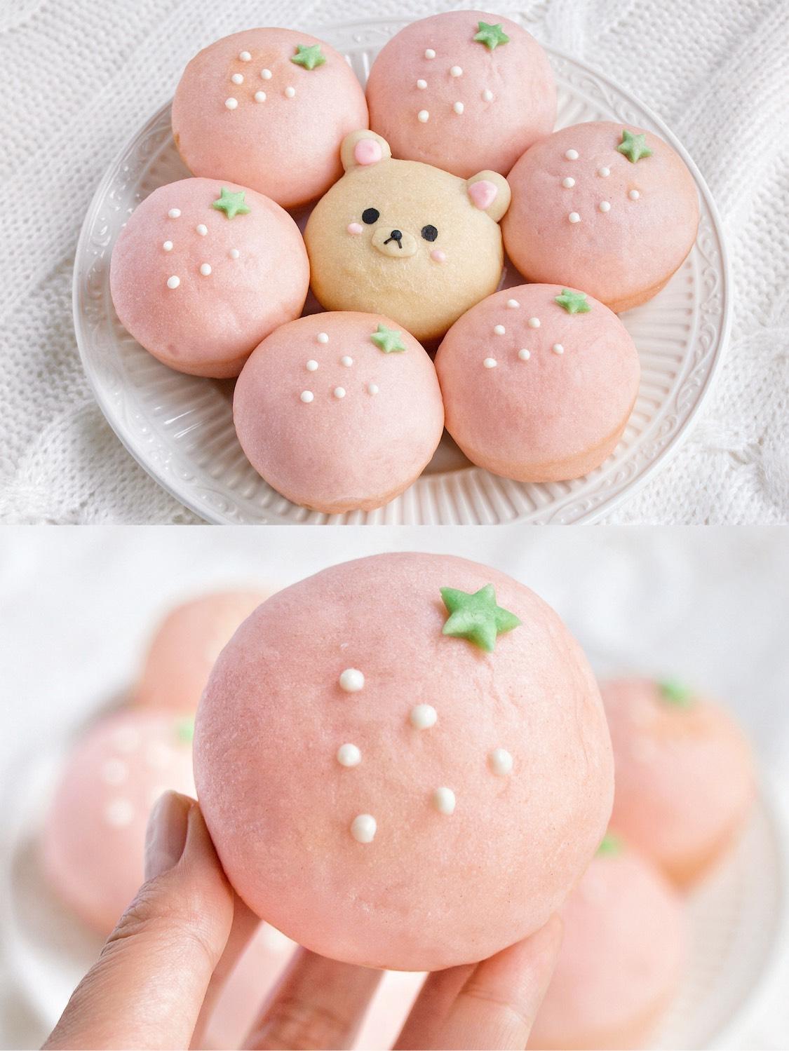 ㊙️吃可爱长大的🍓草莓&熊纸杯面包‼️