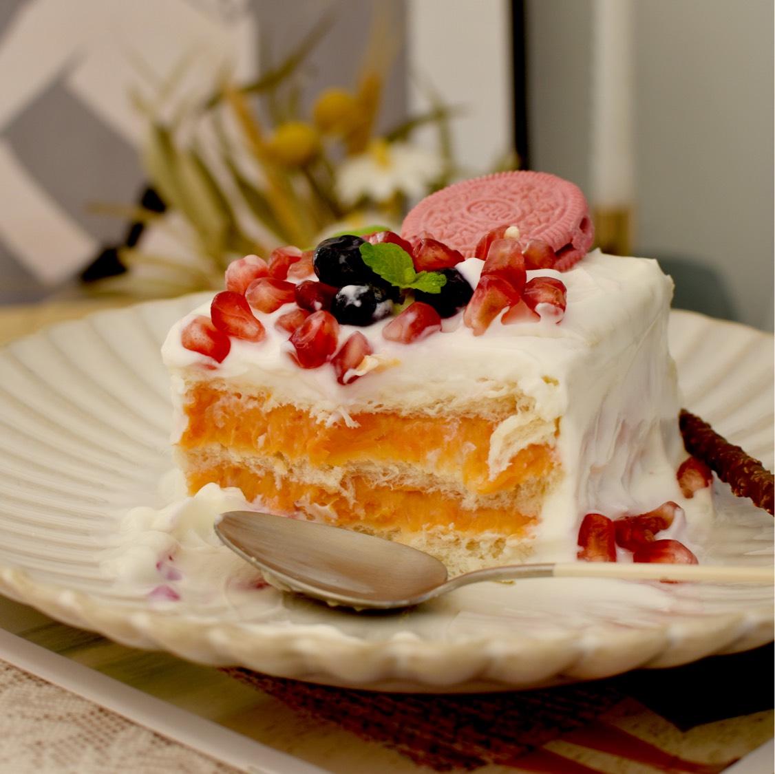 低卡【地瓜吐司蛋糕🍰】不需要烤箱的酸奶蛋糕