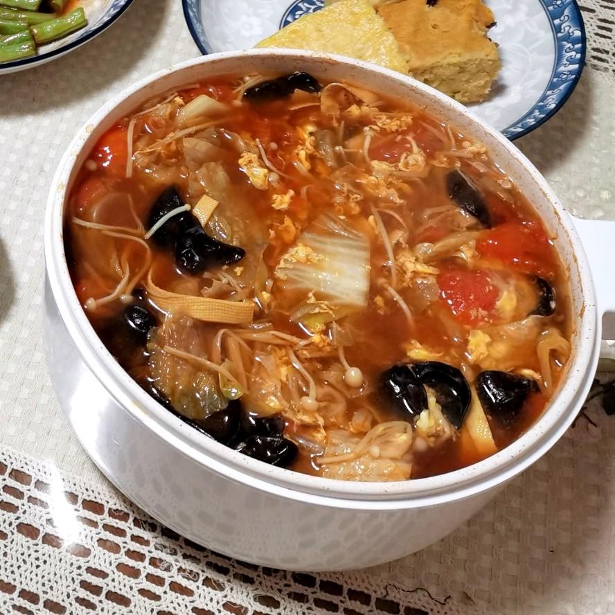 低脂酸辣汤