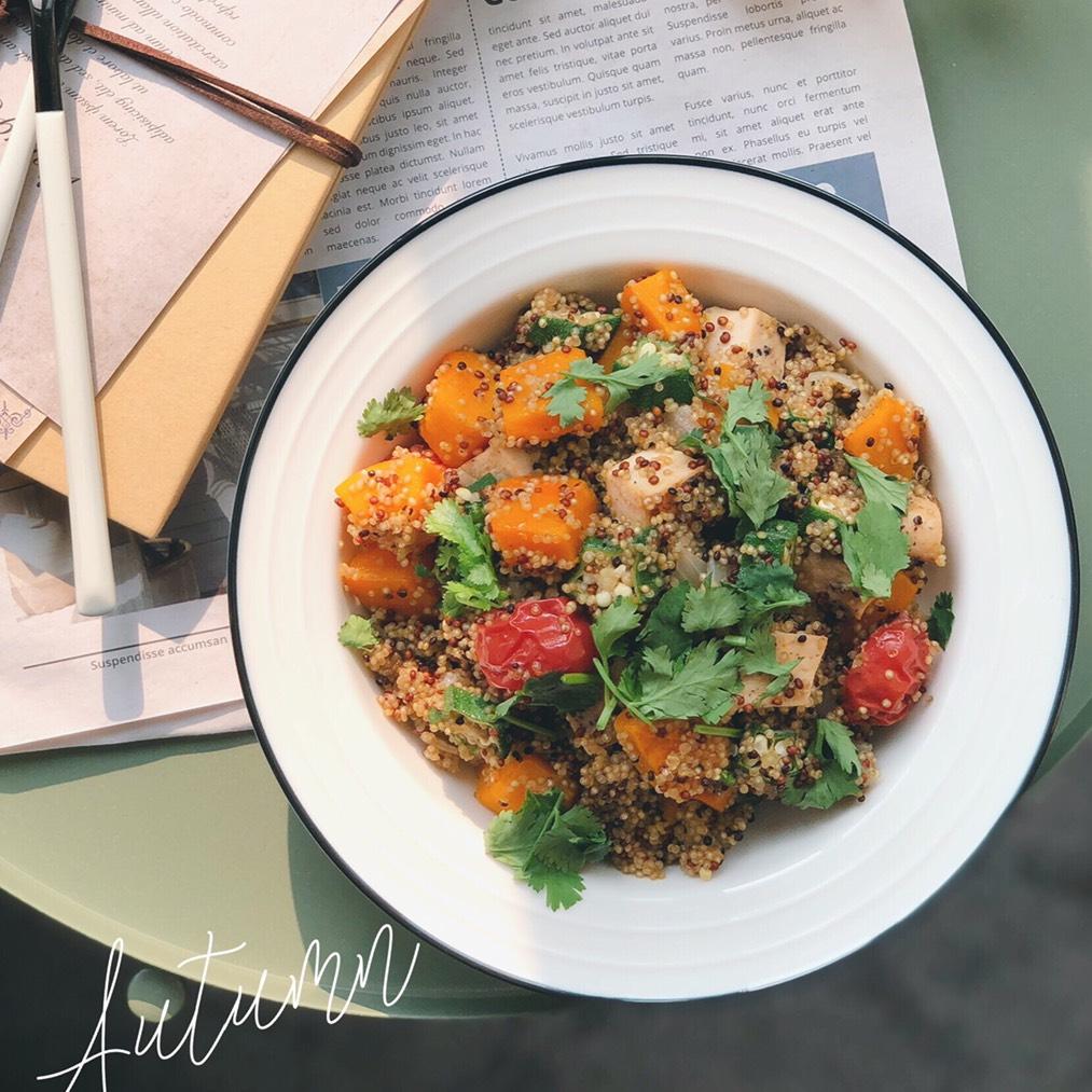 南瓜藜麦饭 南瓜是餐桌上经常出现的蔬