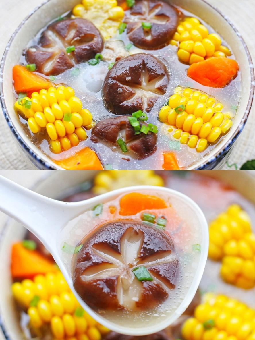 筒骨玉米香菇汤