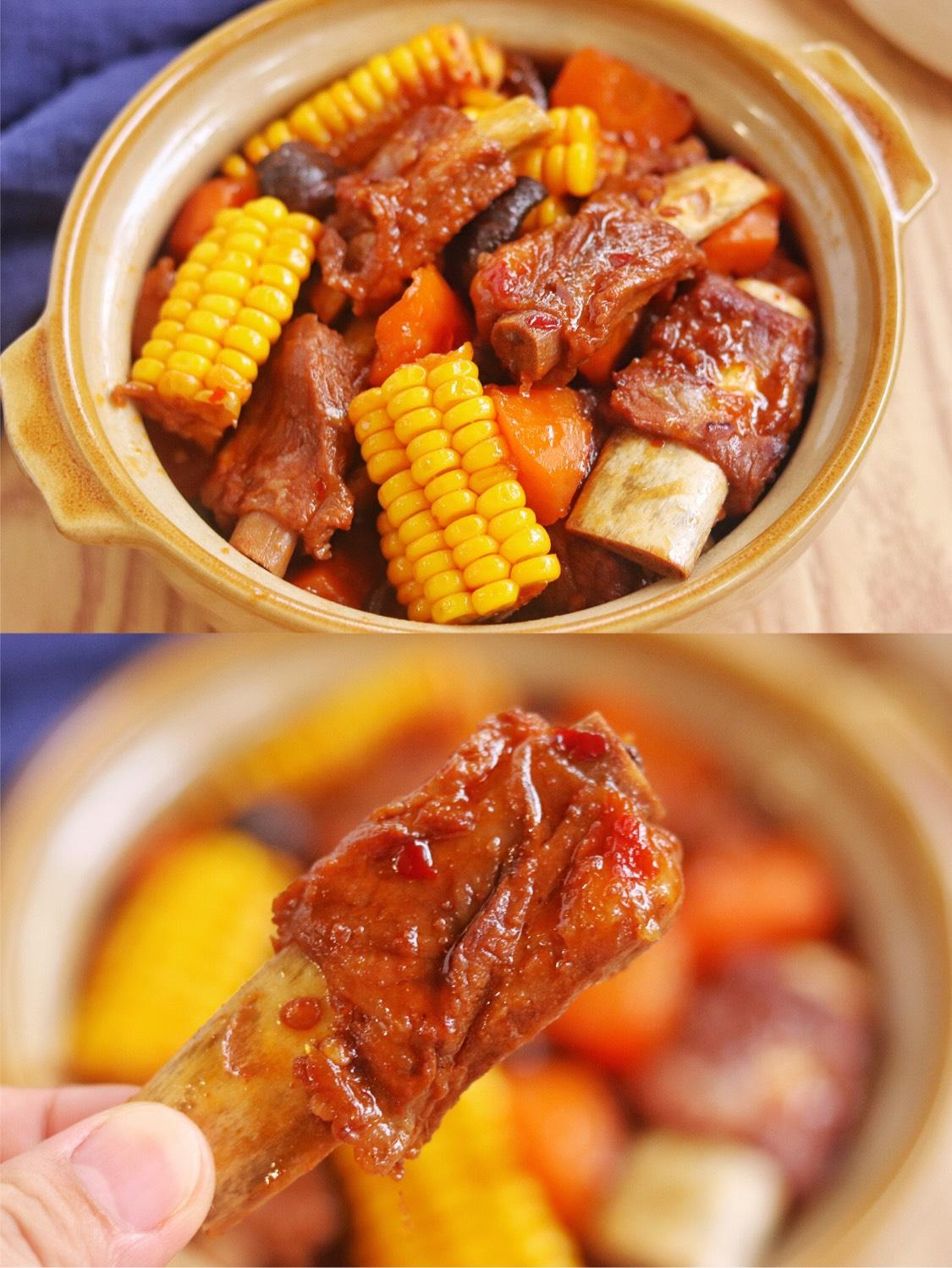 好吃到舔碗的家常玉米排骨煲,香嫩多汁,肉香十足超解馋