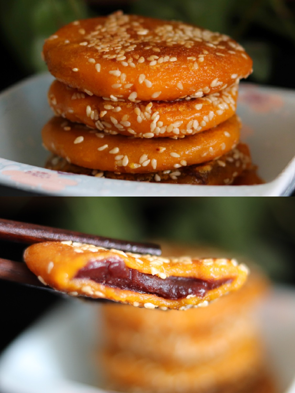 芝麻南瓜餅 軟糯香甜的芝麻這次蒸的南瓜