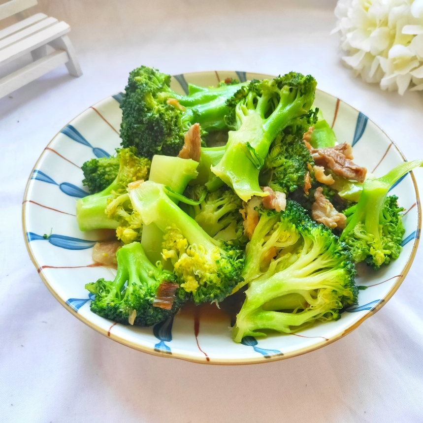 春节年夜饭必备简单快手家常菜西兰花炒肉丝