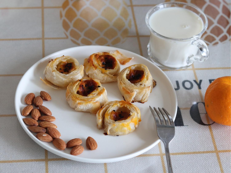 今日早餐,手抓饼版香蕉酥,简单快手,