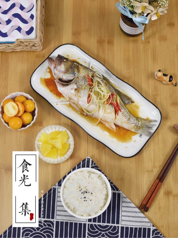 清蒸鲈鱼  【午餐·清蒸鲈鱼】买的新鲜的