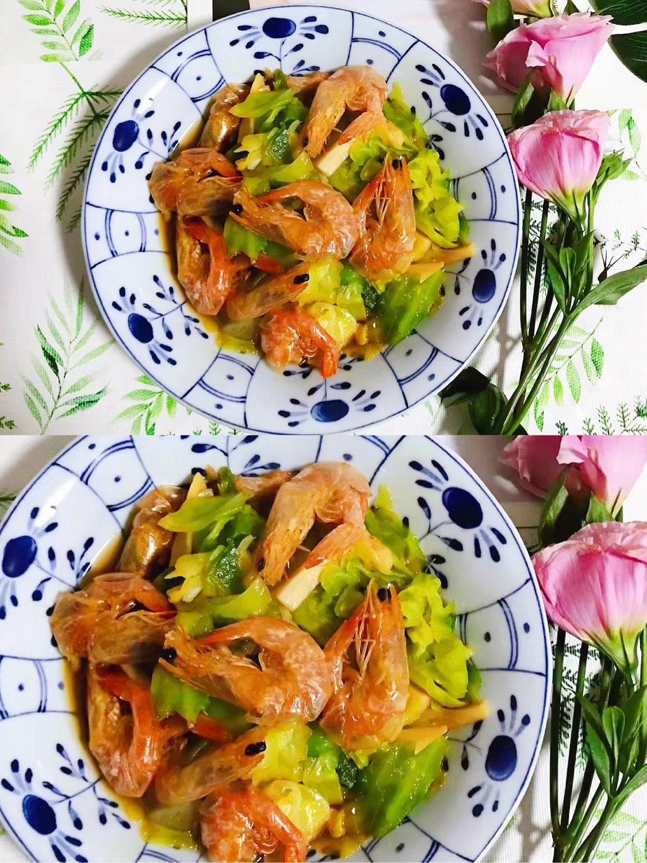 蚝油杏鲍菇卷心菜虾干 真的是非常非常