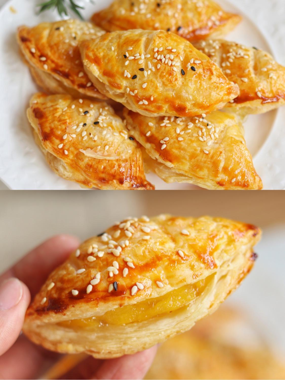 无敌香甜的菠萝酥❗️酥脆掉渣,蛋挞皮的新吃法