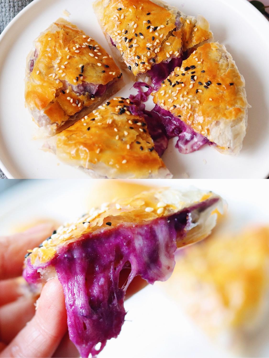 紫薯芝士饼 ㊙️今天分享一个不需要揉面
