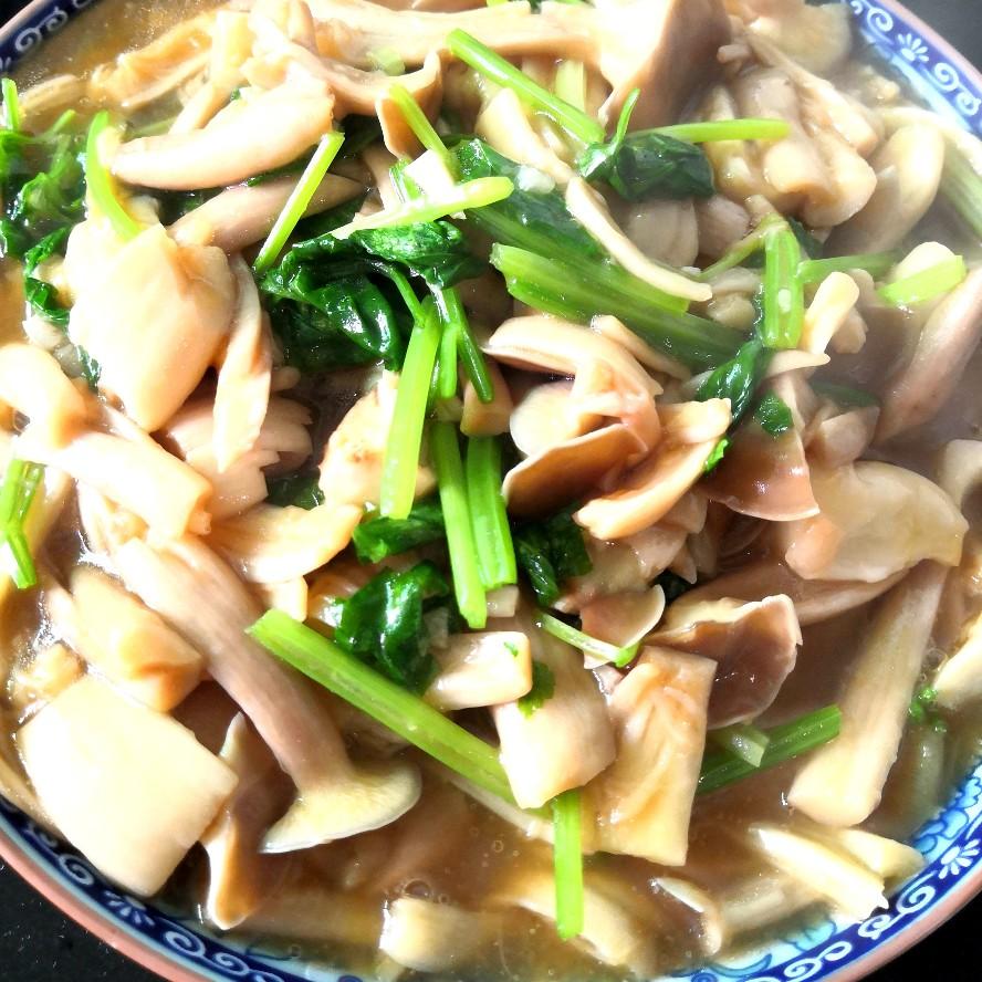 芹菜炒鹿茸菇