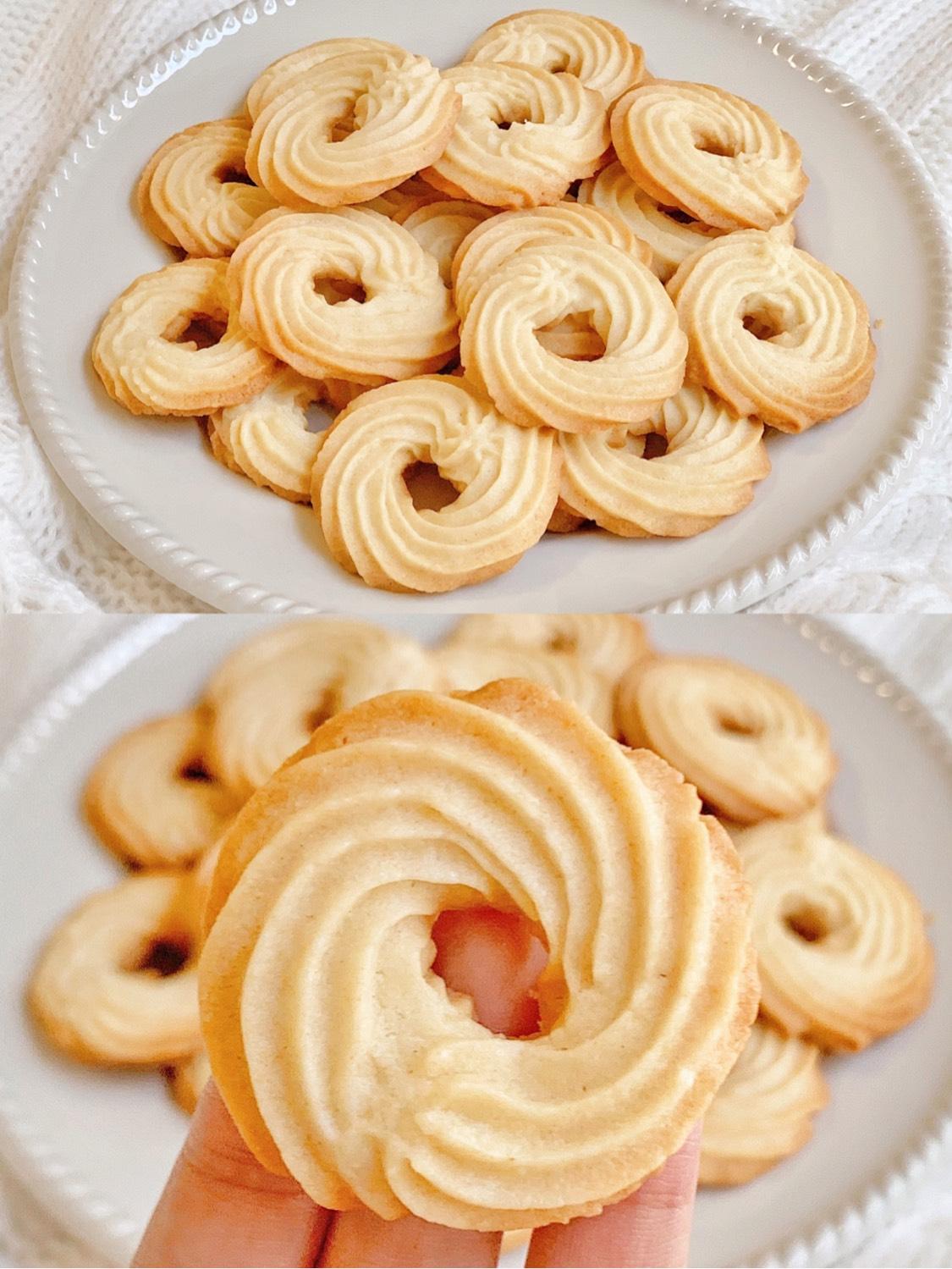 ㊙️奶香十足❗️酥掉渣的奶油曲奇饼干❗️