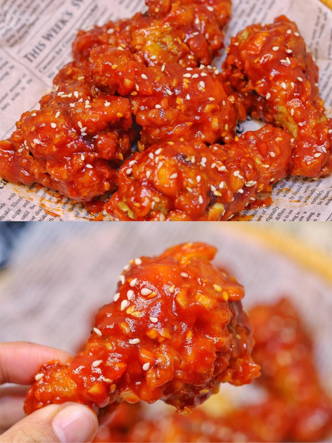 好吃到舔手指❗️甜辣酥脆的韩式炸鸡,简单零难度,学会不用买