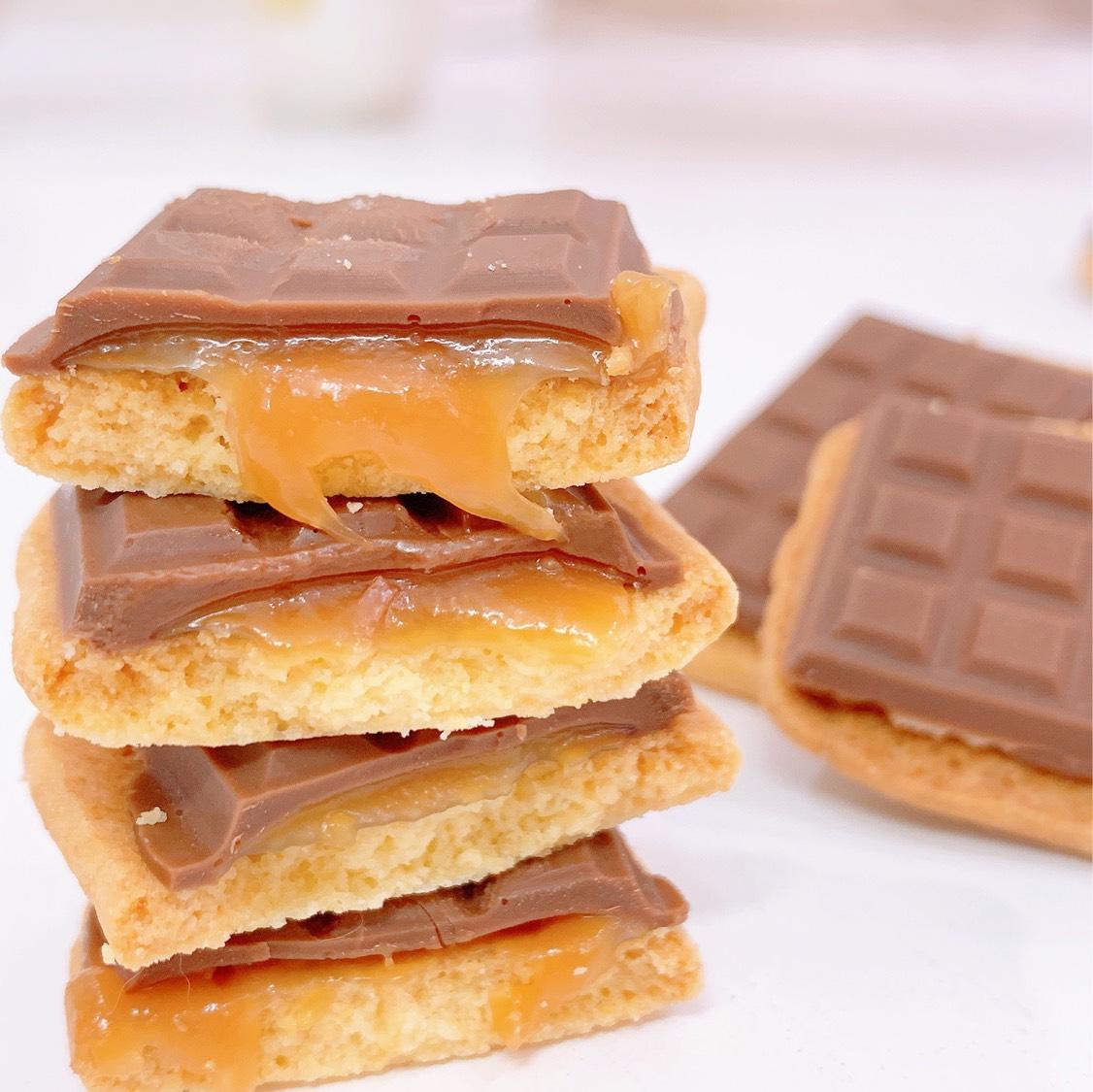 酥脆好吃❗️焦糖夹心❗️爆浆巧克力曲奇饼