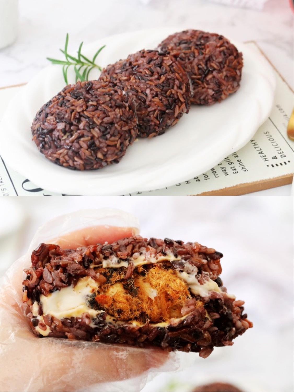 黑米芝士肉松饭团_黑米芝士肉松饭团的做法_黑米芝士肉松饭团的家常做法_黑米芝士肉松饭团怎么做_爱吃菜