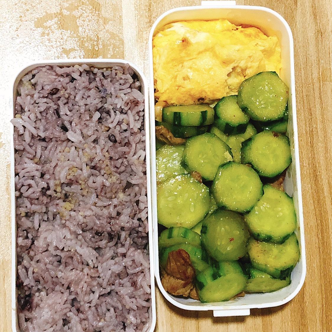 杂粮饭→小米 糙米 紫米 大米 蔬菜