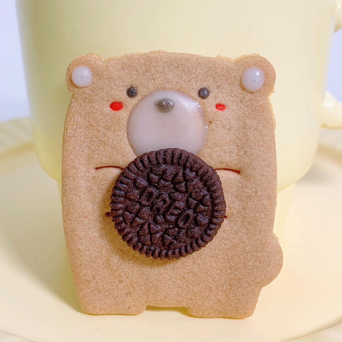 呆萌可爱❗️黄油曲奇饼干🍪奥利奥小熊饼