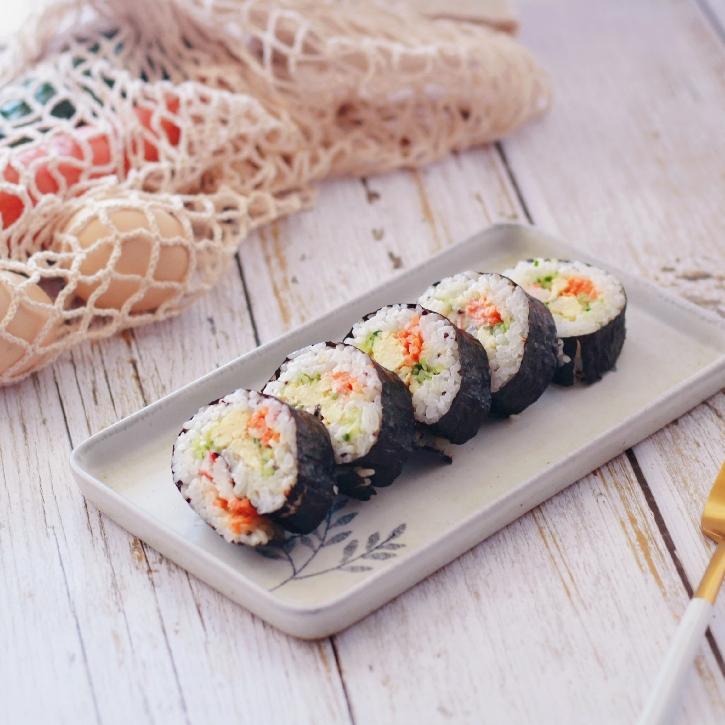新收到的色拉酱,做了简单快手的寿司卷熊